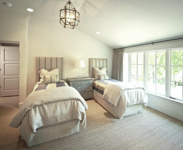 Marvelous The Owen Group: Sophisticated Boyu0027s Bedroom With Sisal Carpet, Twin Burlap  Headboards, Sisal Rug, .