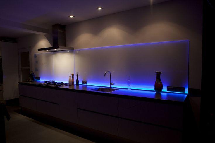 glazen achterwand keuken, led - Google Search