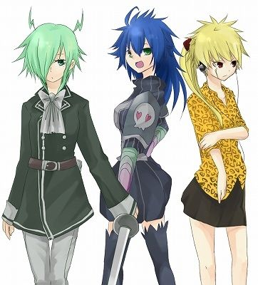 Genderswap from Fairy Tail - Laxus, Freed and Bickslow