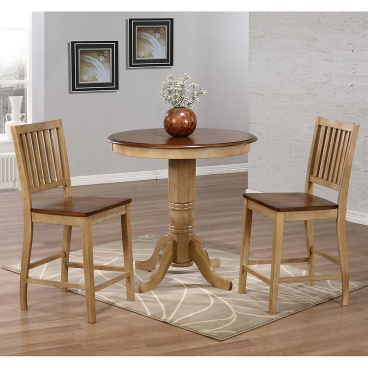Sunset Trading Brookdale 3 Piece Round Counter Height Table Set - SET567