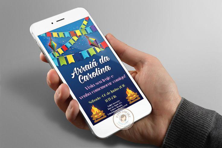 Economize e modernize enviando convite digital pelo Whatsapp para seus convidados!    Produto:  - Convite Digital (não-editável) personalizado encaminhado por e-mail em JPEG/PNG em alta resolução.  - É possível alterar as cores das fontes usadas e as mensagens.    Demais mudanças, favor consultar...