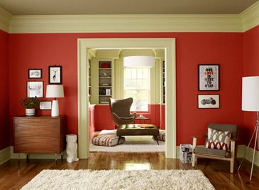 Benjamin Moore Red for Any Room. Love Raspberry Truffle at the bottom.