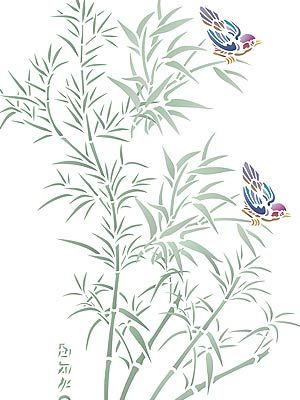 Graceful Bamboo Stencil