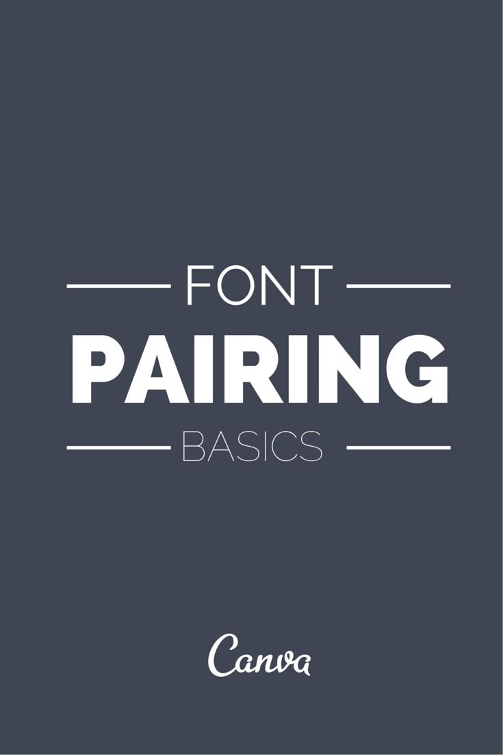 Font Pairing Basics