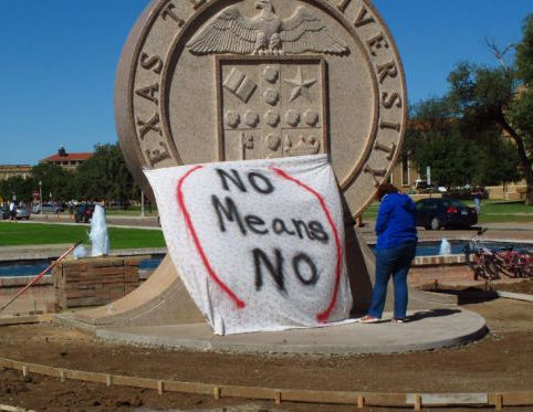 Frat loses charter after horrible 'no means yes' sign sparks protest