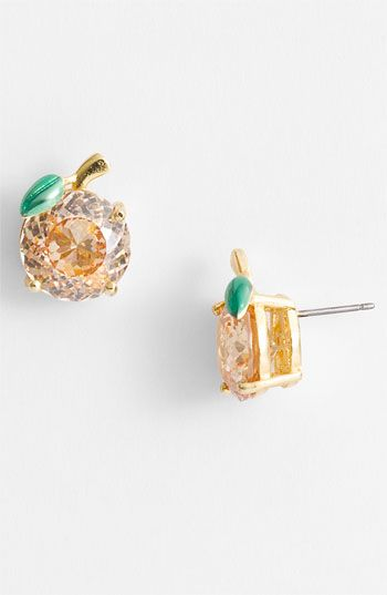Juicy Couture 'Ocean Couture' Peach Stud Earrings | Nordstrom. I hate that this is juicy couture but i think its cute.