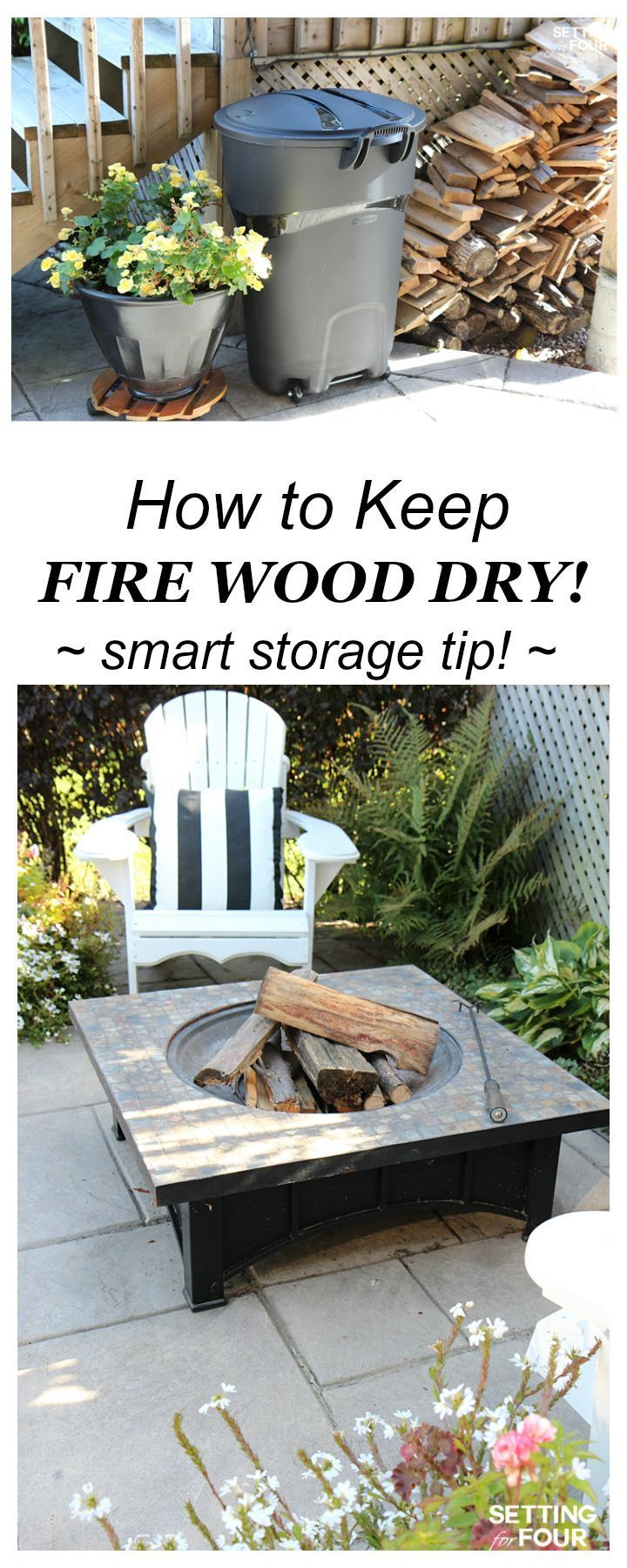 Clever Wood Storage Idea How to Keep