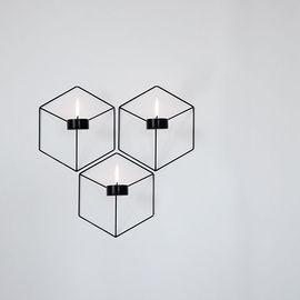 Menu POV Candleholder Wall, Black