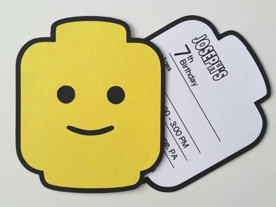 LEGO Party Einladung 10er Pack Von Bellybeancards Auf Etsy