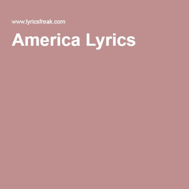 America Lyrics