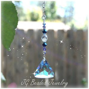 Rearview Crystal Car Mirror Decoration by JGBeads #rearview #crystal #suncatcher