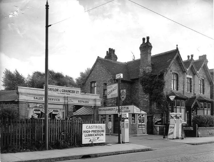 Taylor and Grainger were located at 560 Pershore Road. 1961.To the left of the garage lay Cannon Hill Park. The grand house to the right has sadly disappeared and this site now occupied by Riverside Drive.