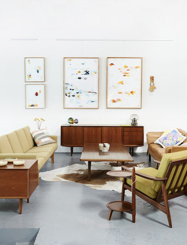 Beautiful Mid Century furniture atModern Times in Fitzroy. Photo- Eve Wilson for The Design Files.