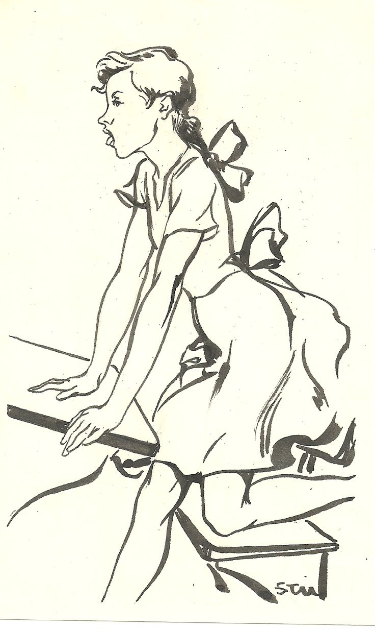 Dibujo. Pincel y tinta china.