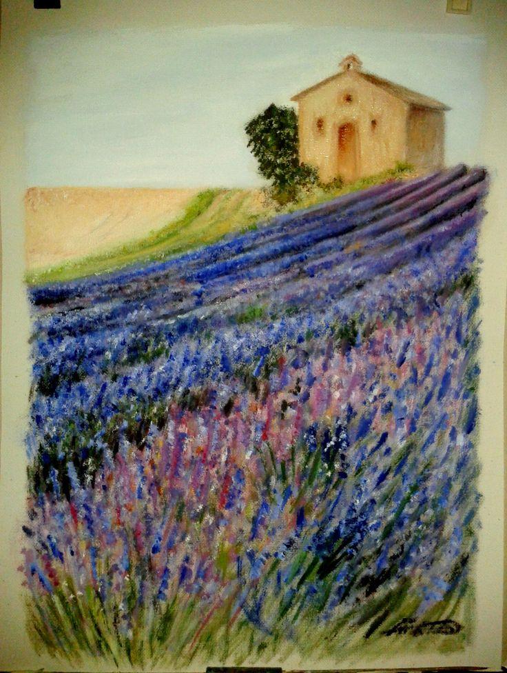 Levendulamező Lavender painting