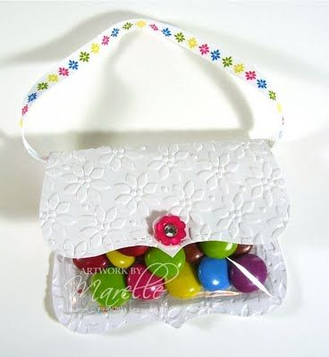 Easy little purse made with Big Shot die