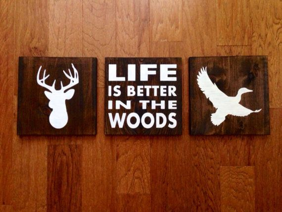 Duck Wood Sign Stained Hand Painted Choose Colors Decor Cabin Hunting Woodland Nursery Wildlife