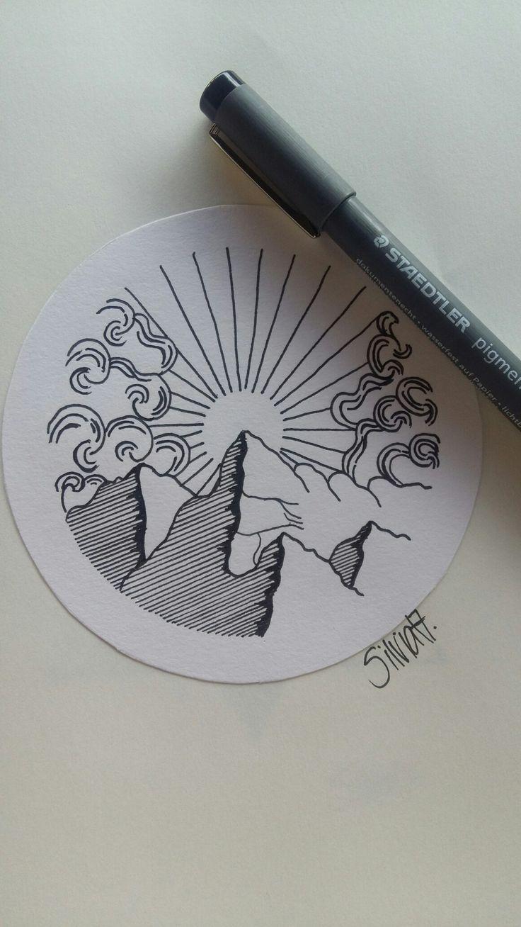 Mountain/ Sun/ Tattoo idea