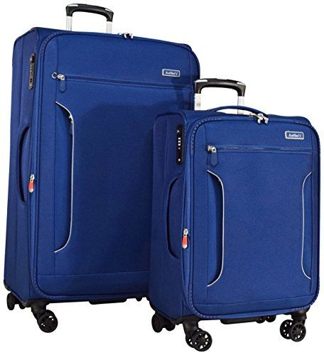 Luggage Sets Collections | Antler Cyberlite Il DLX 2Piece Expandable Spinner Set 27 and 21 Blue >>> Want additional info? Click on the image. Note:It is Affiliate Link to Amazon.