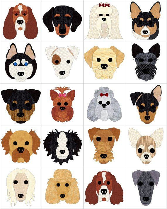 Dog Days Applique Block Pattern Dog Quilts Animal