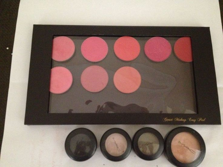1 LARGE AND 1 SMALL Black Empty Magnetic Palette SET Z palette dupe