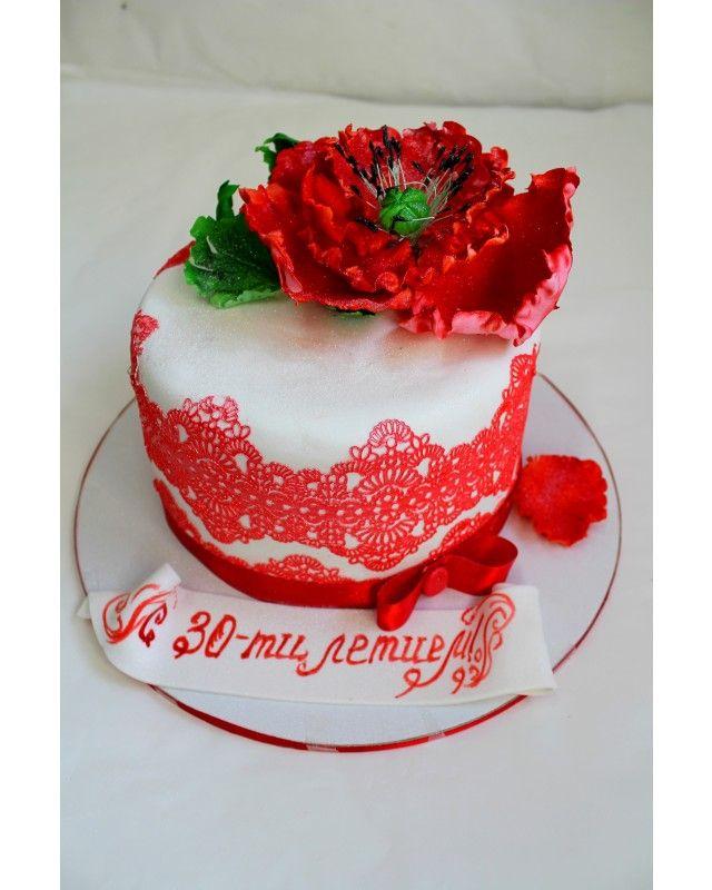 """★Праздничный торт """"Красный мак"""" holiday. Созвездие сладостей"""