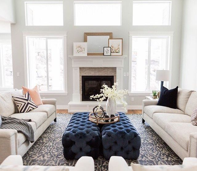 Sitting/family room. Ellie and Jared's | My Perfect House ...