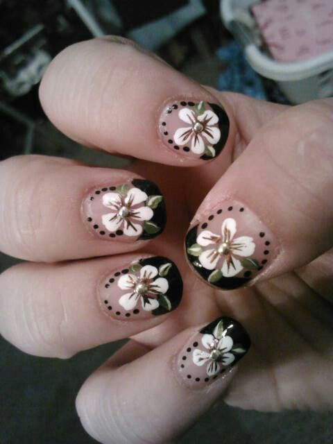 8 best coffin nails images on pinterest coffin nails coffin short nail art natural nails acrylic paint black french tip prinsesfo Gallery