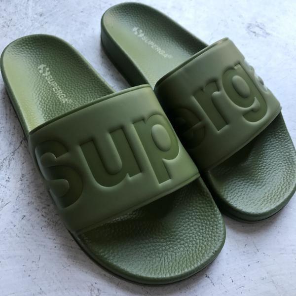 SUPERGA - Pool Slides - Khaki
