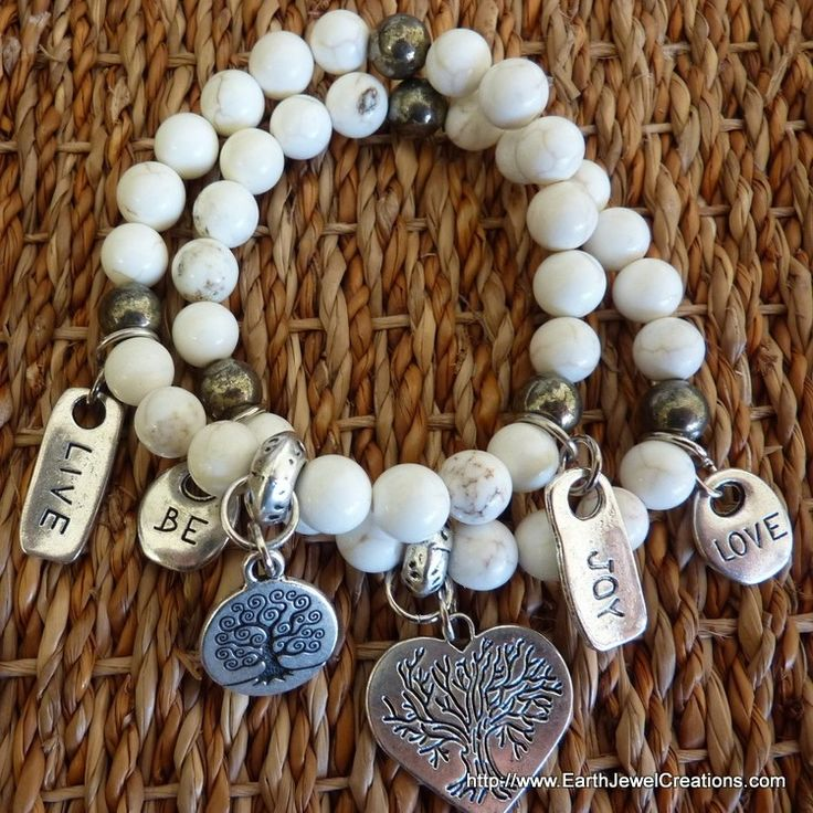 Magnesite Harmony Bracelet - Inspirational handmade gemstone jewellery Earth Jewel Creations Australia