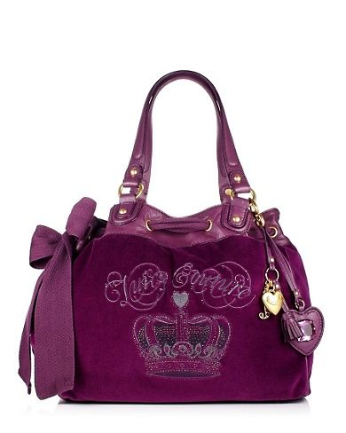 Sequin Crown Daydreamer Bag in Nightingale by Juicy Couture $198.00 #purse #handbag #purple