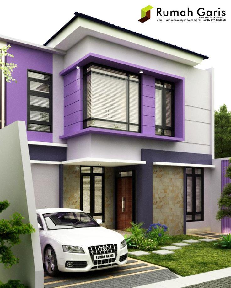 rumah indah 2 lantai konsep modern minimalis dengan warna
