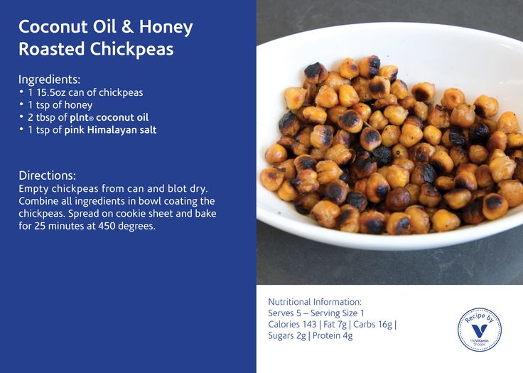 Coconut Oil & Honey Roasted Chickpea Recipe by the Vitamin Shoppe
