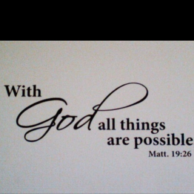 With God ALL Things Are Possible!  Tattoo Picture at
