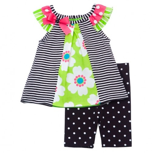 Infant Multi Print Top And Legging - Rare Editions Baby