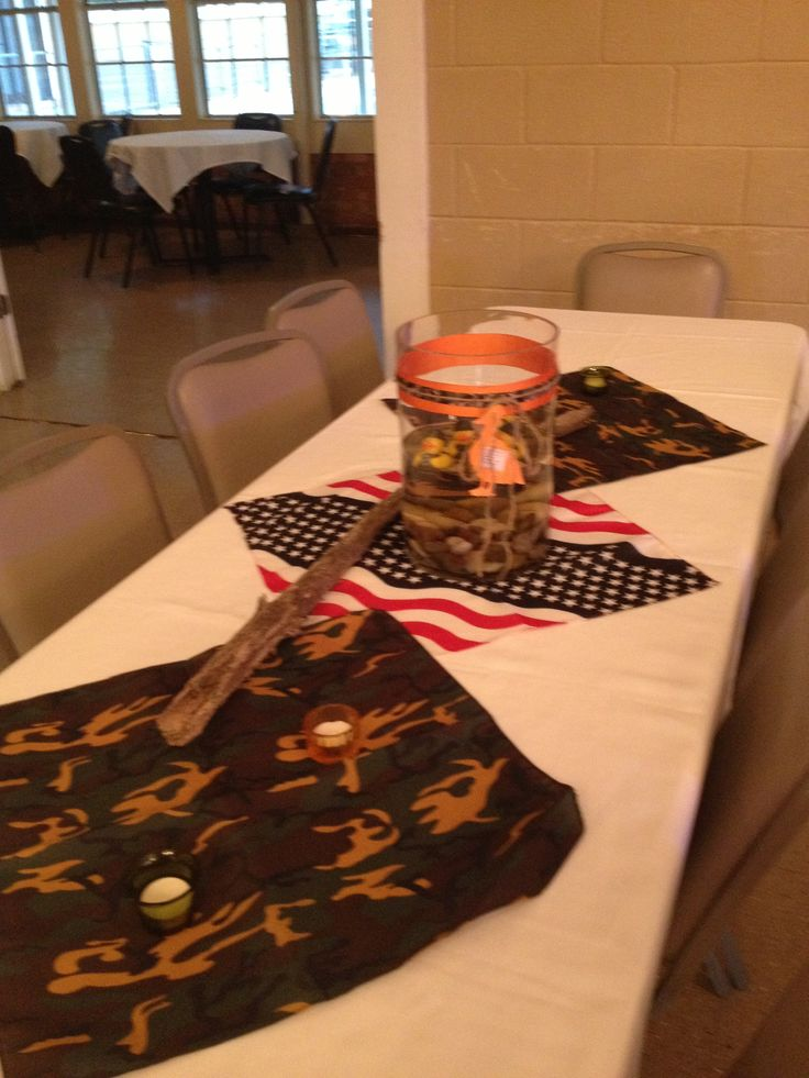 Table decorations. Duck Dynasty Themed Party Ideas Pinterest