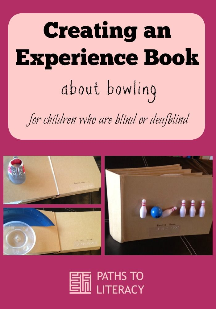 Learn how to create a tactile experience book for children who are blind or deafblind, including those with multiple disabilities, with this fun example about bowling.