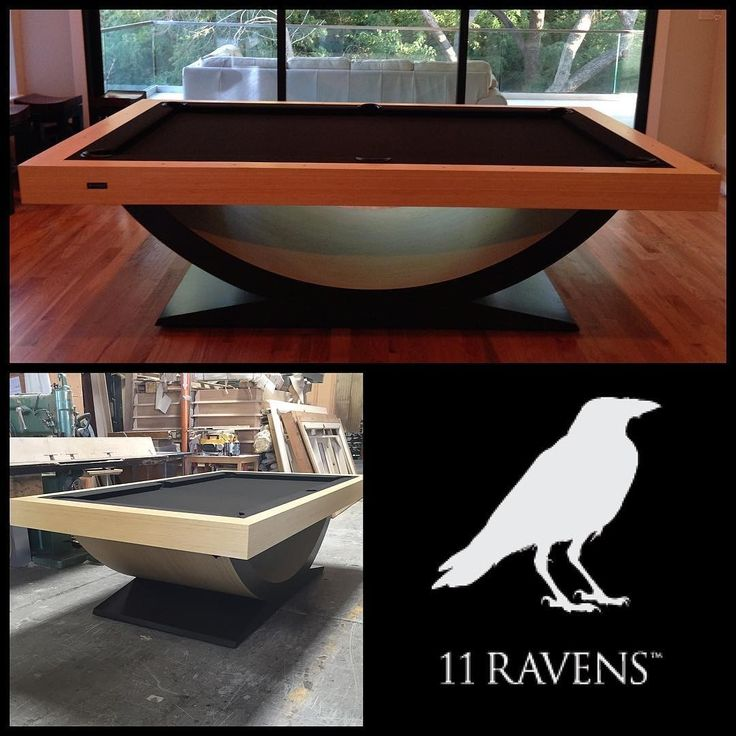 Check out these custom made pool tables!  @11ravens has a wide variety of custom pool tables and tennis tables, a must check out page! @11ravens follow them for more of their amazing pieces.... - Interior Design Ideas, Interior Decor and Designs, Home Design Inspiration, Room Design Ideas, Interior Decorating, Furniture And Accessories
