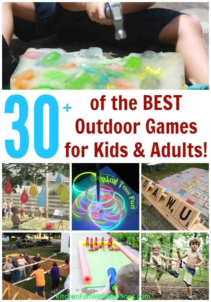 Over 30 Of The BEST Backyard Games For Kids Adults Hours Or Fun Whole Family Including Party Giant Board And Water