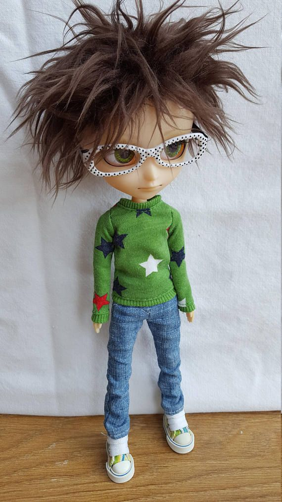 Green starry long sleeved shirt for Isul doll