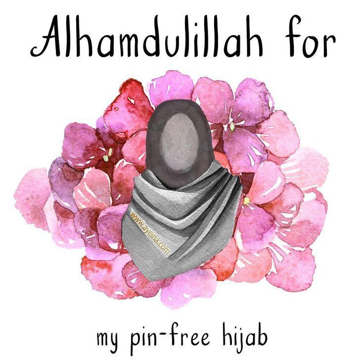 Alhamdulillah for my pin-free hijab.  #AlhamdulillahForSeries
