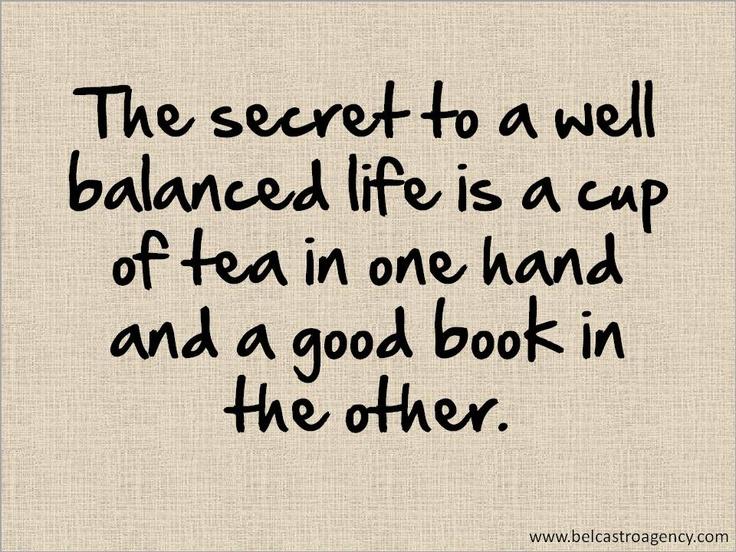 Tea + books... perfection