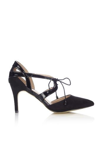 Black Lace Point Court  Shoe