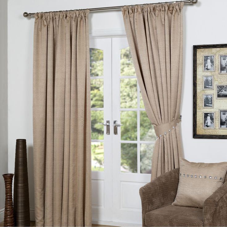 Buy Jewel Beige Lined Curtains With Tiebacks - Matching Cushion Covers Available   Curtains   The Range