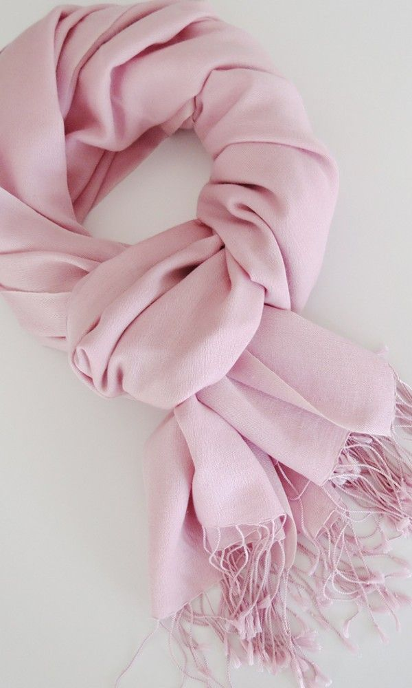 Handwoven Silk-Cashmere Shawl | Pashmina in Pink Orchid by SILK & GREY