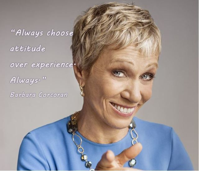 Barbara Corcoran quote. Inspirational business woman