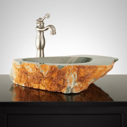Lieutenant Natural River Stone Vessel Sink #stonevesselsinks