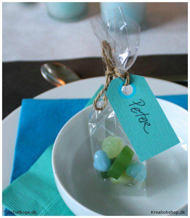 bordkort og bordpynt til fester materialer fra Kreahobshop.dk