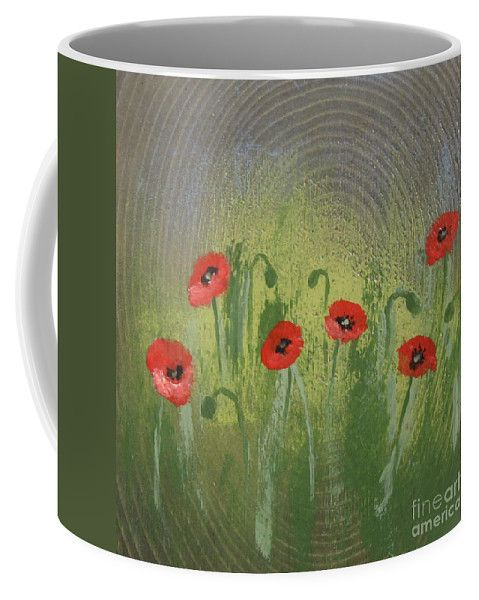 Field Of Red Poppies Coffee Mug by Lyssjart Sj.  Small (11 oz.)