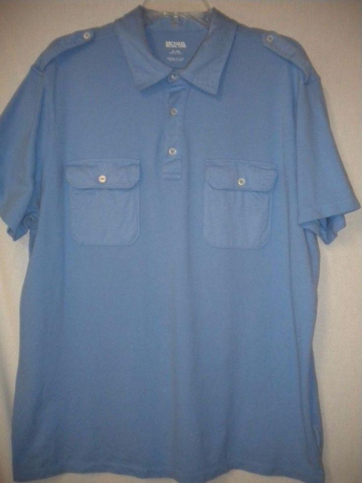 Mike S Koi Sleeve Chest Panel Unfinished Big Jpg 2400 3200: Michael Michael Kors Size XL Light Blue Short Sleeve